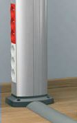 Мини-колонны подключение через напольный кабель-канал