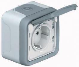 Розетки и выключатели влагозащищённые накладные IP55
