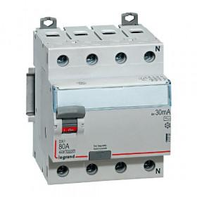 "411735 Выключатель диф.тока(УЗО) 4-полюса 83А 500мА тип ""AC"" (Legrand DX3 DX3) N справа"