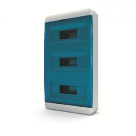 01-01-064 Щит навесной 36 мод. IP40, прозрачная синяя дверца BNS 40-36-1 (Tekfor серия B)