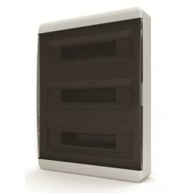 01-01-081 Щит навесной 54 мод. IP40, прозрачная черная дверца BNK 40-54-1 (Tekfor серия B)
