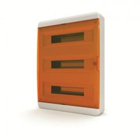 01-01-083 Щит навесной 54 мод. IP40, прозрачная оранжевая дверца BNO 40-54-1 (Tekfor серия B)