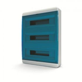 01-01-084 Щит навесной 54 мод. IP40, прозрачная синяя дверца BNS 40-54-1 (Tekfor серия B)