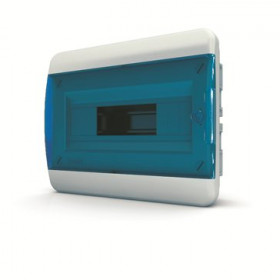 01-02-004 Щит встраиваеный 8 мод. IP40, прозрачная синяя дверца BVS 40-08-1 (Tekfor серия B)