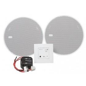 """52606 KBSound In-Wall Bluetooth 5"""" Встраиваемый в стену приёмник+2 колонки 5"""" Белый"""