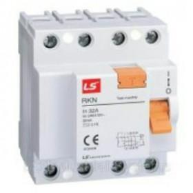 "062400388B Выключатель диф.тока(УЗО) 4-полюса 25А 100мА тип ""AC"" (LS IS тип RKN)"
