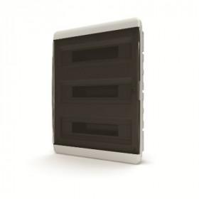 01-02-081 Щит встраиваеный 54 мод. IP40, прозрачная черная дверца BVK 40-54-1 (Tekfor серия B)