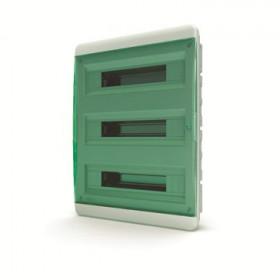 01-02-082 Щит встраиваеный 54 мод. IP40, прозрачная зеленая дверца BVZ 40-54-1 (Tekfor серия B)