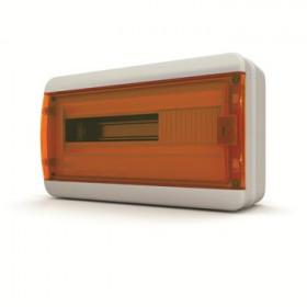 01-03-003 Щит навесной 18 мод. IP65, прозрачная оранжевая дверца BNO 65-18-1 (Tekfor серия B)