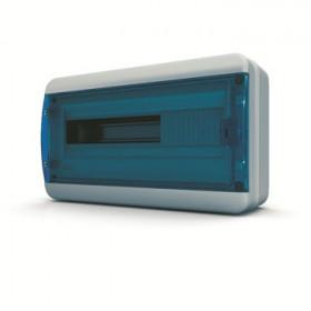 01-03-004 Щит навесной 18 мод. IP65, прозрачная синяя дверца BNS 65-18-1 (Tekfor серия B)