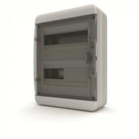 01-03-021 Щит навесной 24 мод. IP65, прозрачная черная дверца BNK 65-24-1 (Tekfor серия B)