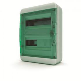 01-03-022 Щит навесной 24 мод. IP65, прозрачная зеленая дверца BNZ 65-24-1 (Tekfor серия B)