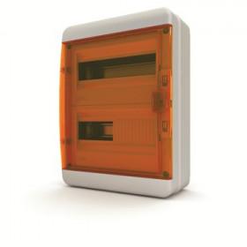 01-03-023 Щит навесной 24 мод. IP65, прозрачная оранжевая дверца BNO 65-24-1 (Tekfor серия B)