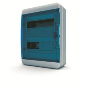 01-03-024 Щит навесной 24 мод. IP65, прозрачная синяя дверца BNS 65-24-1 (Tekfor серия B)
