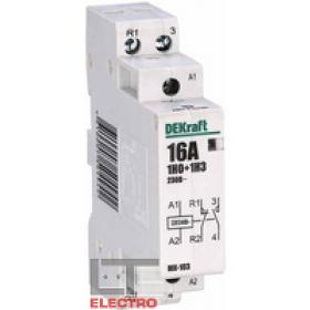 18051DEK Модульный контактор 1НО+1НЗ 16А 230В, МК-103-016A-230B-11 DEKraft