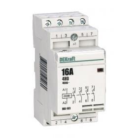 18053DEK Модульный контактор 4НО 16А 230В МК-103-016A-230B-40 DEKraft