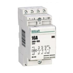 18054DEK Модульный контактор 3НО+1НЗ 16А 230В, МК-103-016A-230B-31 DEKraft