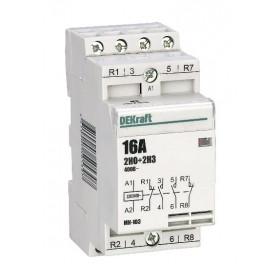 18055DEK Модульный контактор 2НО+2НЗ 16А 230В, МК-103-016A-230B-22 DEKraft