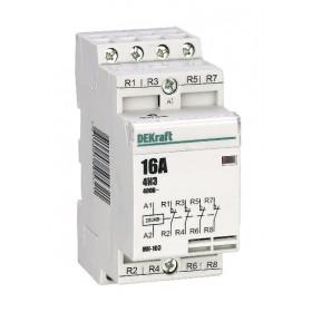 18056DEK Модульный контактор 4НЗ 16А 230В, МК-103-016A-230B-04 DEKraft