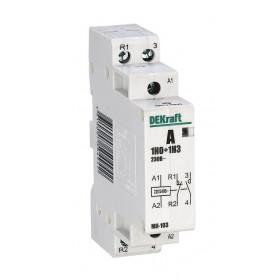 18058DEK Модульный контактор 1НО+1НЗ 20А 230В, МК-103-020A-230B-11 DEKraft