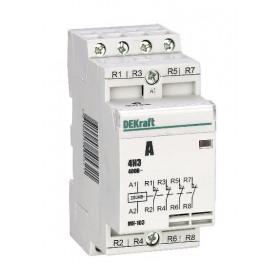 18063DEK Модульный контактор 4НЗ 20А 230В, МК-103-020A-230B-04 DEKraft
