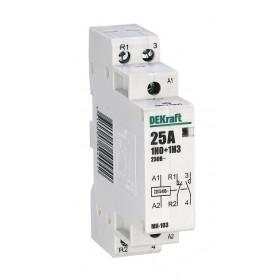 18065DEK Модульный контактор 1НО+1НЗ 25А 230В, МК-103-025A-230B-11 DEKraft