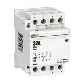 18074DEK Модульный контактор 4НО 32А 230В, МК-103-032A-230B-40 DEKraft