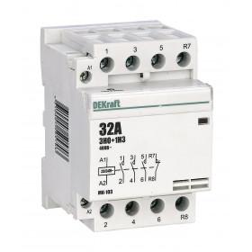 18075DEK Модульный контактор 3НО+1НЗ 32А 230В, МК-103-032A-230B-31 DEKraft