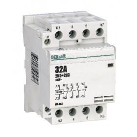 18076DEK Модульный контактор 2НО+2НЗ 32А 230В, МК-103-032A-230B-22 DEKraft