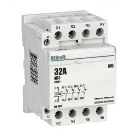 18077DEK Модульный контактор 4НЗ 32А 230В, МК-103-032A-230B-04 DEKraft