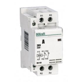 18080DEK Модульный контактор 2НЗ 40А 230В, МК-103-040A-230B-11 DEKraft
