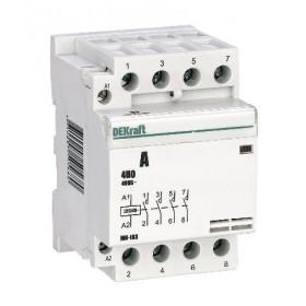18081DEK Модульный контактор 4НО 40А 230В, МК-103-040A-230B-40 DEKraft