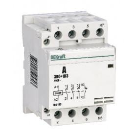 18082DEK Модульный контактор 3НО+1НЗ 40А 230В, МК-103-040A-230B-31 DEKraft