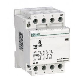 18083DEK Модульный контактор 2НО+2НЗ 40А 230В, МК-103-040A-230B-22 DEKraft