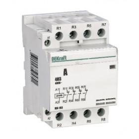 18084DEK Модульный контактор 4НЗ 40А 230В, МК-103-040A-230B-04 DEKraft