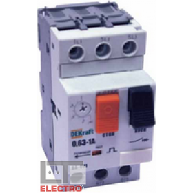21202DEK Авт. выключатель защиты двигателя 3-полюся 1,0-1,6A 50кА (ВА-401-1,00-1,60А) DEKraft