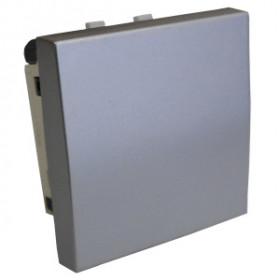 850703 Выключатель 1-кл. 45х45 (сх.1) 16 A. 250 B  (серебристый металлик) LK45