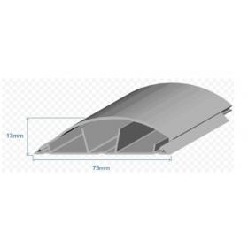 10120 CCZ Напольный короб Efapel 75х17 мм пластиковый полукруглый, Серый