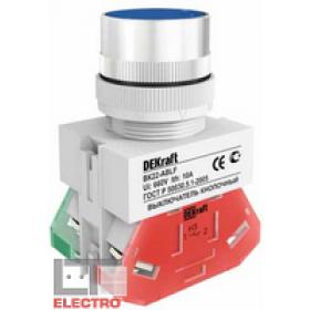 25016DEK Выключатель кнопочный потайной без индикации 220В(ВK-22-ABLF-BLU) СИНИЙ