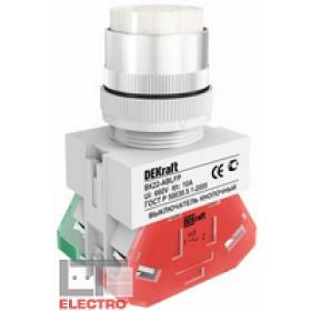 25017DEK Выключатель кнопочный выступающий без индикации 220В(ВK-22-ABLFP-WHI) БЕЛЫЙ