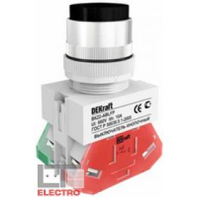 25018DEK Выключатель кнопочный выступающий без индикации 220В(ВK-22-ABLFP-BLK) ЧЕРНЫЙ