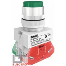 25019DEK Выключатель кнопочный выступающий без индикации 220В(ВK-22-ABLFP-GRN) ЗЕЛЕНЫЙ