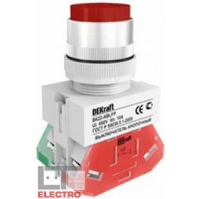25020DEK Выключатель кнопочный выступающий без индикации 220В(ВK-22-ABLFP-RED) КРАСНЫЙ