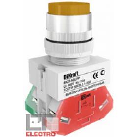 25021DEK Выключатель кнопочный выступающий без индикации 220В(ВK-22-ABLFP-YEL) ЖЕЛТЫЙ