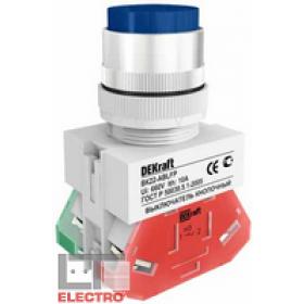 25022DEK Выключатель кнопочный выступающий без индикации 220В(ВK-22-ABLFP-BLU) СИНИЙ