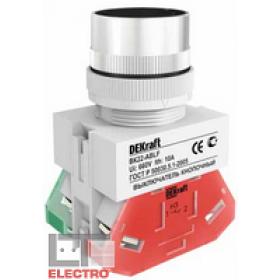 25042DEK Выключатель кнопочный потайной без индикации 220В(ВK-30-ABLF-BLK) ЧЕРНЫЙ