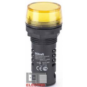 25120DEK Лампа коммутационная светодиод 220В AC/DC(ЛК22-ADDS-YEL-LED-220) ЖЕЛТЫЙ