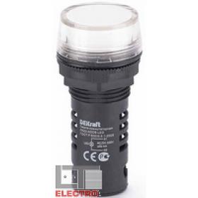 25121DEK Лампа коммутационная светодиод 220В AC/DC(ЛК22-ADDS-WHI-LED-220) БЕЛЫЙ