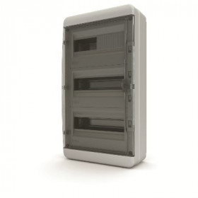 01-03-041 Щит навесной 36 мод. IP65, прозрачная черная дверца BNK 65-36-1 (Tekfor серия B)