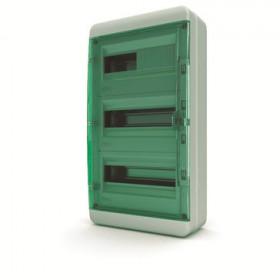 01-03-042 Щит навесной 36 мод. IP65, прозрачная зеленая дверца BNZ 65-36-1 (Tekfor серия B)